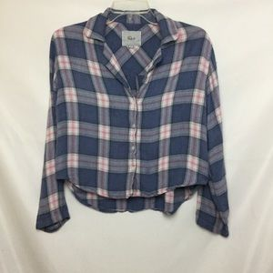 Rails plaid pajama Top